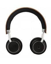 Безжични слушалки с микрофон Microlab - Mogul, кафяви -1