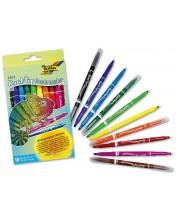 Комплект двустранни флумастери Folia - 10 цвята