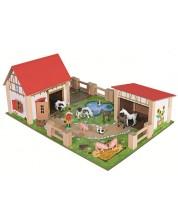Дървен комплект Eichhorn - Ферма, 25 части -1