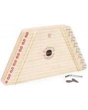 Детски музикален инструмент Hape - Дървена арфа -1
