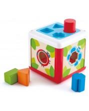 Детска игра за сортиране Hape - Кутия за сортиране на форми -1