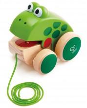 Дървена играчка за дърпане Hape - Жабка -1