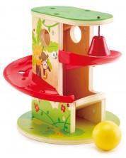Дървена играчка Джунгла Hape - Натисни и плъзни -1