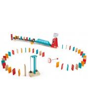Дървена игра Домино Hape - Мощен удар -1