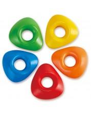 Триъгълни цветни пастели Hape - 5 цвята -1