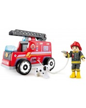 Дървена играчка Hape - Пожарна кола