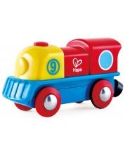 Дървена играчка Hape - Цветен локомотив -1