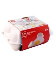 Комплект продукти за рязане Hape - Кутия с яйца, от дърво -1