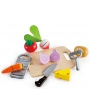 Комплект продукти за рязане Hape - Зеленчуци за салати, от дърво -1