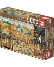 Пъзел Educa 9000 части - Градината на земните удоволствия, Йеронимус Бош
