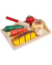 Дървен комплект Eichhorn - Дъска за рязане на храна -1