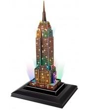 3D Пъзел Cubic Fun от 38 части и LED светлини - Empire State Building (U.S.A)