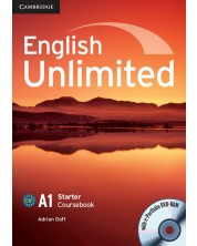 English Unlimited Starter Coursebook with e-Portfolio: Английски език - ниво A1 (учебник с DVD-ROM)