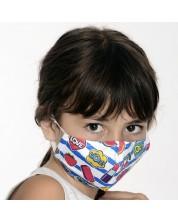 Детска предпазна маска - Fun, двуслойна, с метален стек, 6-12 години