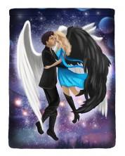 Текстилен джоб за електронна книга With Scent of Books - Fallen Angels