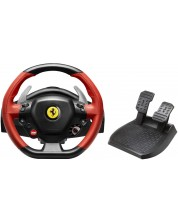 Волан с педали Thrustmaster XB1 TM 458 Spider - за XboxOne, черен/червен -1