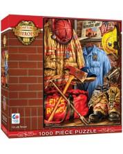 Пъзел Master Pieces от 1000 части - Пожарникари и спасители, Дона Гелснигър -1