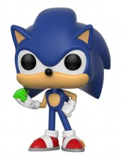 Фигура Funko Pop! Games: Sonic The Hedgehog - Sonic With Emerald, #284