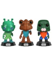 Фигури Funko Pop! Star Wars: Greedo, Hammerhead, Walrus - 3-Pack