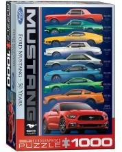 Пъзел Eurographics от 1000 части - Ford Mustang на 50 години -1