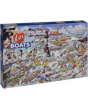 Пъзел Gibsons от 1000 части - Обичам лодките, Майк Джуп