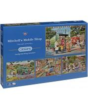 Пъзел Gibsons от 4 x 500 части – Магазинчето на колела на Митчъл, Кевин Тревър