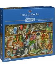 Пъзел Gibsons от 1000 части - Котета върху книги, Джудит Йейтс