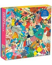 Пъзел Galison от 1000 части - Винтидж кукли от хартия