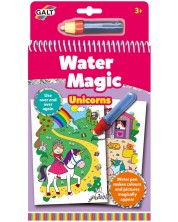 Магическа книжка за рисуване с вода Galt - Еднорози -1