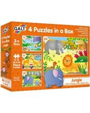 Детски пъзели 4 в 1 Galt - Джунгла -1
