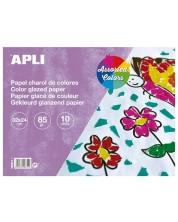 Блокче Apli - Гланцово, 10 листа, различни цветове