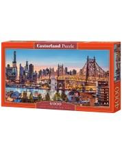 Панорамен пъзел Castorland от 4000 части - Добър вечер, Ню Йорк