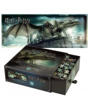 Панорамен пъзел Harry Potter от 1000 части - Бягство от банка Гринготс