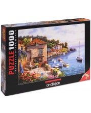 Пъзел Anatolian от 1000 части - Градина на пристанището, Сунг Ким -1