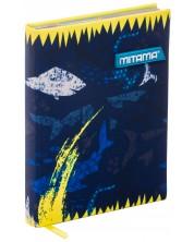 Тефтер Mitama А5 - Shark, с текстилни корици