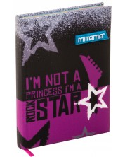 Тефтер Mitama А5 - Rockstar, с текстилни корици