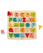 Дървен пъзел Hape - Азбука, главни букви -1