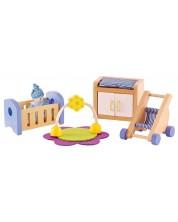 Комплект дървени мини мебели Hape - Обзавеждане за бебешка стая -1
