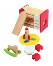 Комплект дървени мини мебели Hape - Детска стая -1