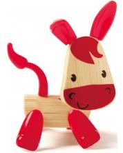 Детска играчка от бамбук Hape - Мини животинка Магаренце -1