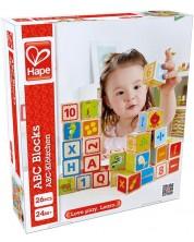 Разноцветни кубчета Hape с букви и цифри, дървени -1