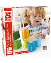Детска играчка за подреждане с навиване Hape , дървена -1