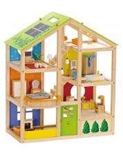 Детска дървена куклена къща с обзавеждане