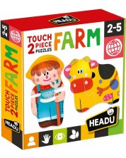 Образователен пъзел Headu - Ферма -1