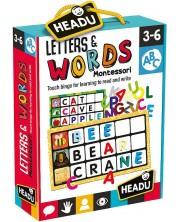 Образователна игра Headu Montessori - Докосни и отгатни буквата
