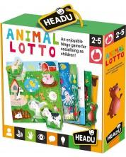 Образователна игра Headu Montessori - Лото с животни -1