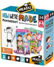 Образователна игра Headu Montessori - Как сме направени -1