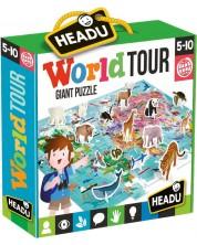 Образователен пъзел Headu - Обиколка на света, 108 части