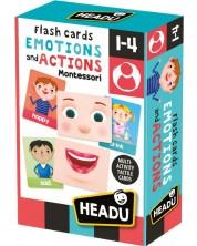 Образователни флаш карти Headu Montessori - Емоции и действия