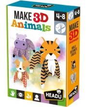 Творчески комплект Headu Montessori - Направи 3D животни -1
